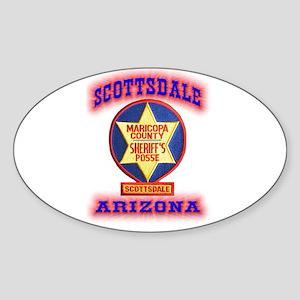 Scottsdale Sheriff's Posse Sticker (Oval)