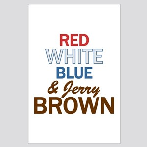 Red, White, Blue & Brown 2 Large Poster