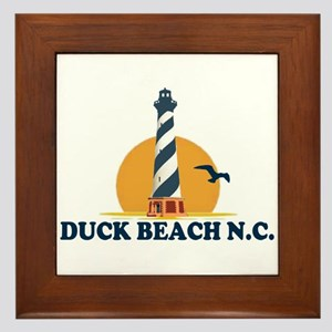 Duck NC - Lighthouse Design Framed Tile