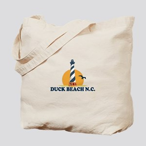 Duck NC - Lighthouse Design Tote Bag