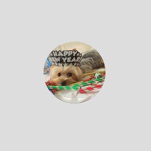Santa Yorkie - Mini Button