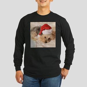 Santa Yorkie - Long Sleeve Dark T-Shirt