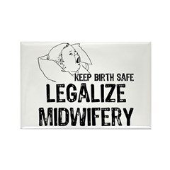 Legalize Midwifery Rectangle Magnet (100 pack)