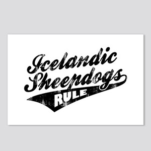 Icelandic Sheepdogs Rule Postcards (Package of 8)