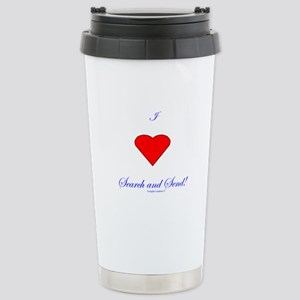 Love Search Send Stainless Steel Travel Mug