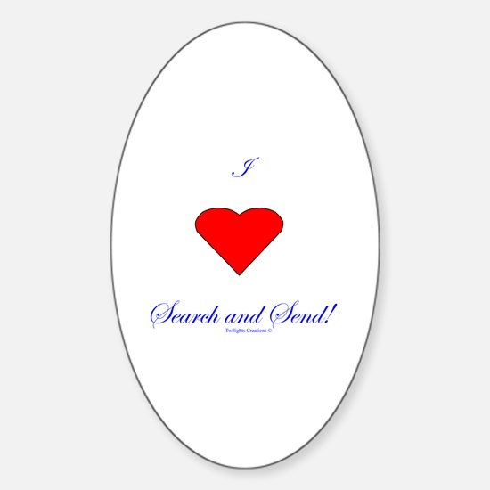 Love Search Send Sticker (Oval)