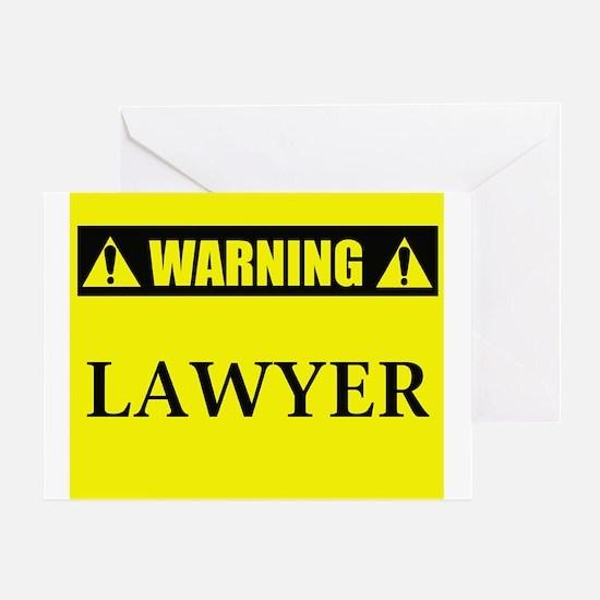 WARNING: Lawyer Greeting Card