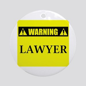 WARNING: Lawyer Ornament (Round)