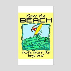 SAVE THE BEACH-BOYS Sticker (Rectangle)