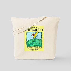 SAVE THE BEACH-BOYS Tote Bag