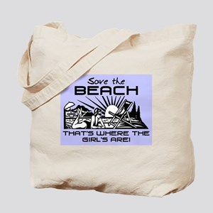 SAVE THE BEACH-GIRLS Tote Bag
