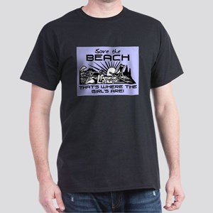 SAVE THE BEACH-GIRLS Dark T-Shirt