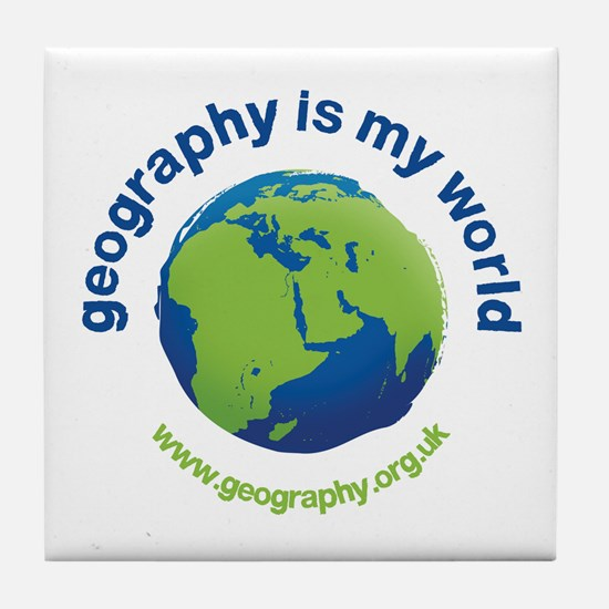 'Geography is my World' Tile Coaster