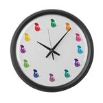 Rainbow Colors French Horn Music Clock Gift
