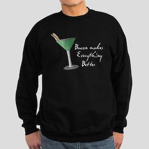 Funny Bacon Martini Sweatshirt (dark)