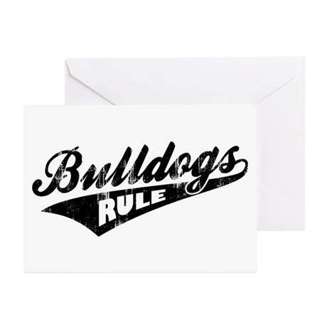 Bulldogs Rule Greeting Cards (Pk of 20)