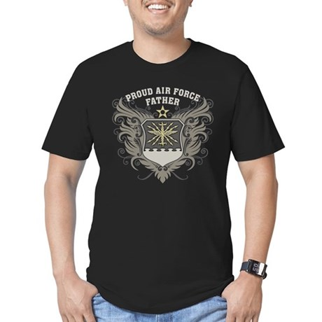 Proud Air Force Father Men's Fitted T-Shirt (dark)