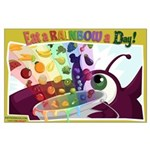 Large Eat a Rainbow Poster