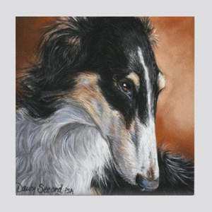 Borzoi Tile Coaster