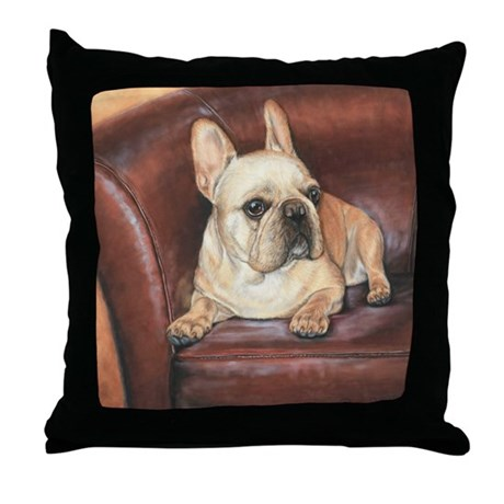 french bulldog height french bulldog throw pillow by dawnsecord 1309