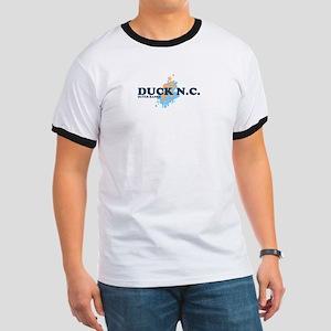 Duck NC - Seashells Design Ringer T