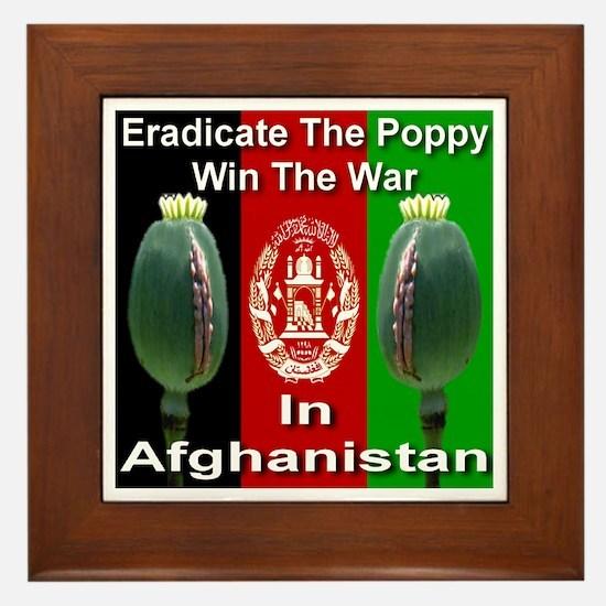 Eradicate The Poppy Framed Tile