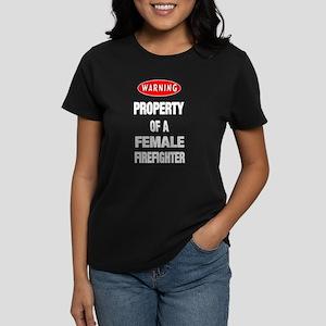 Female Firefighter Property Women's Dark T-Shirt