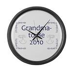 Grandma-to-Be 2010 Large Wall Clock