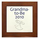 Grandma-to-Be 2010 Framed Tile