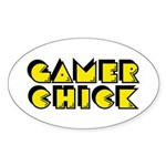 Gamer Chick Oval Sticker