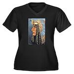 Isis Women's Plus Size V-Neck Dark T-Shirt