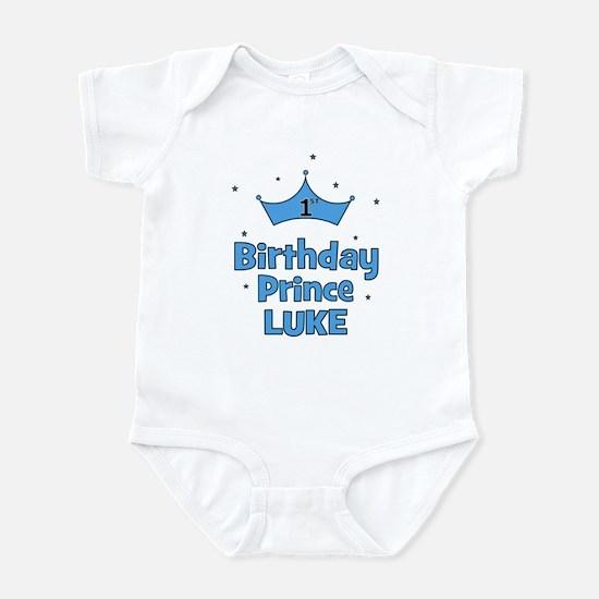 1st Birthday Prince LUKE! Infant Bodysuit