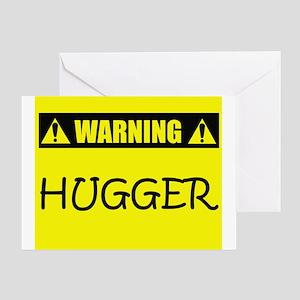 WARNING: Hugger Greeting Card