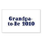 Grandpa-to-Be 2010 Sticker (Rectangle 10 pk)