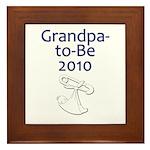 Grandpa-to-Be 2010 Framed Tile