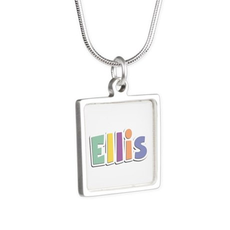 Ellis Spring14 Silver Square Necklace