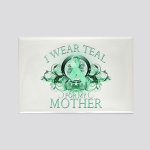 I Wear Teal for my Mother Rectangle Magnet