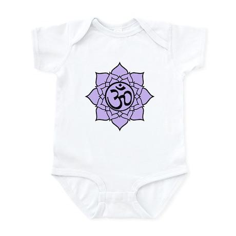 Purple Om Lotus Blossom Infant Bodysuit
