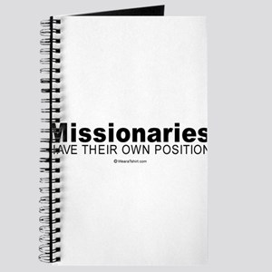 Missionaries have their own position - Journal