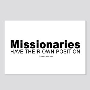 Missionaries have their own position -  Postcards
