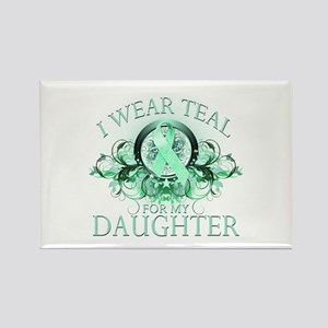I Wear Teal for my Daughter Rectangle Magnet