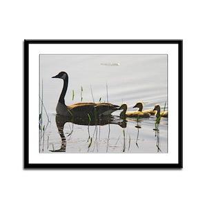Goose Family Framed Panel Print