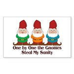 One by one the Gnomes steal my sanity Sticker (Rec