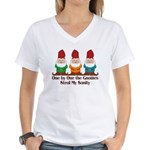 One by one the Gnomes steal my sanity Women's V-Ne