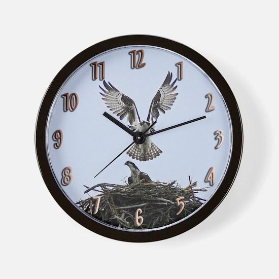 Osprey Pair Wall Clock