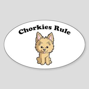 Chorkies Rule Sticker (Oval)