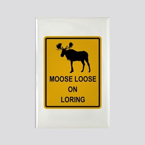 Moose Loose Rectangle Magnet