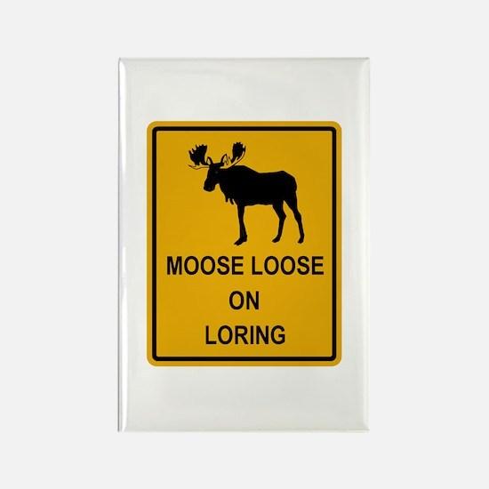 Moose Loose Rectangle Magnet