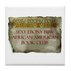Sexy Ebony BBW AA Book Club Tile Coaster