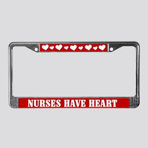 Nurses Have Heart License Plate Frame